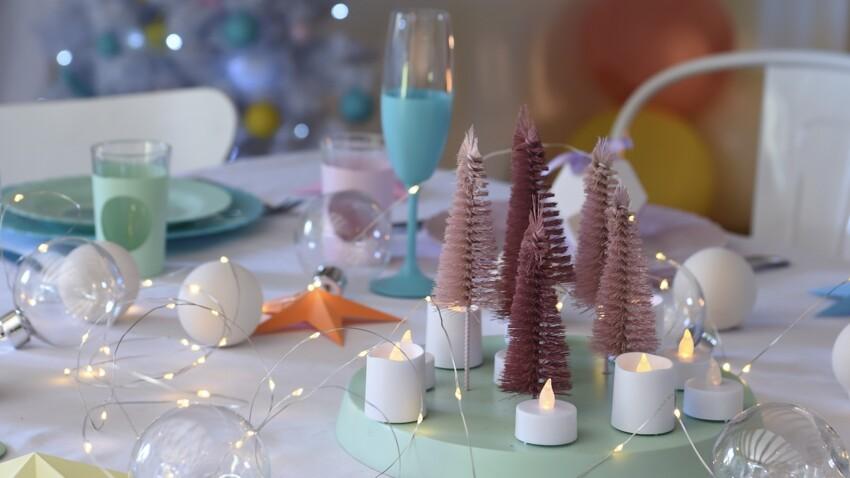 Déco de table facile : 3 créations colorées et festives pour Noël