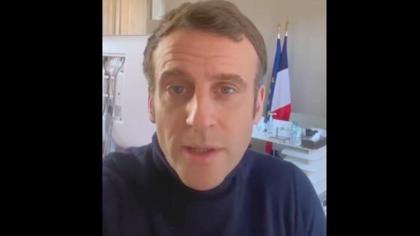 """""""Un moment de négligence"""" : Emmanuel Macron, positif à la Covid-19, donne de ses nouvelles avec une vidéo surprenante"""