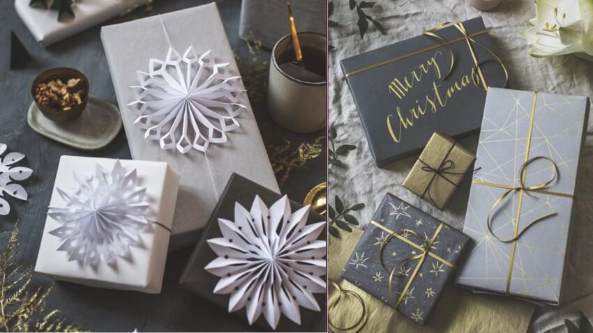 Noël : nos idées pour réaliser de jolis paquets cadeaux maison