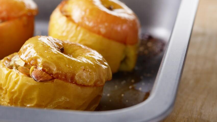 Recette de fête WW : les pommes au foie gras au four