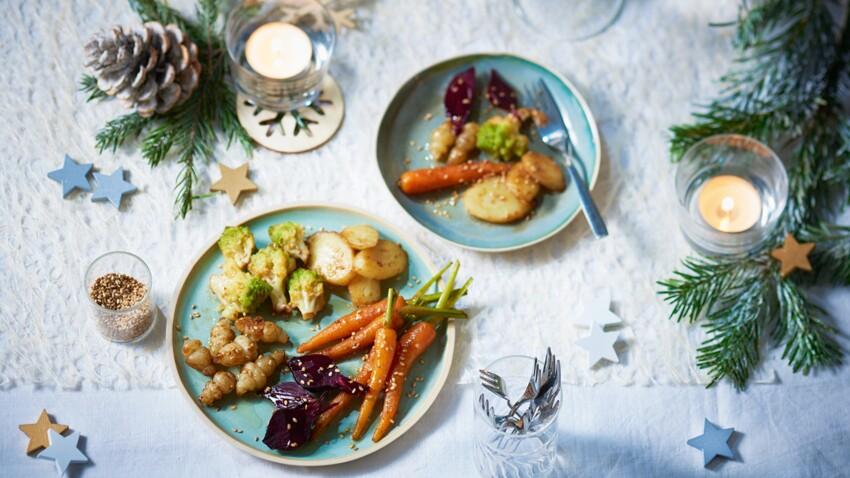 Mini-légumes d'hiver al dente tièdes