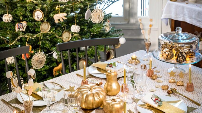 DIY : 7 idées de déco rapides et faciles pour une table de Noël