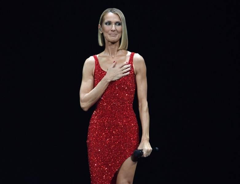 Le carré mi-long de Céline Dion
