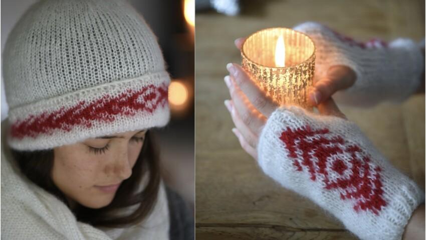 Echarpe, bonnet, mitaines : 3 créations à tricoter cet hiver