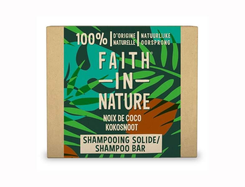 Le shampooing solide Noix de coco et beurre de karité Faith in Nature