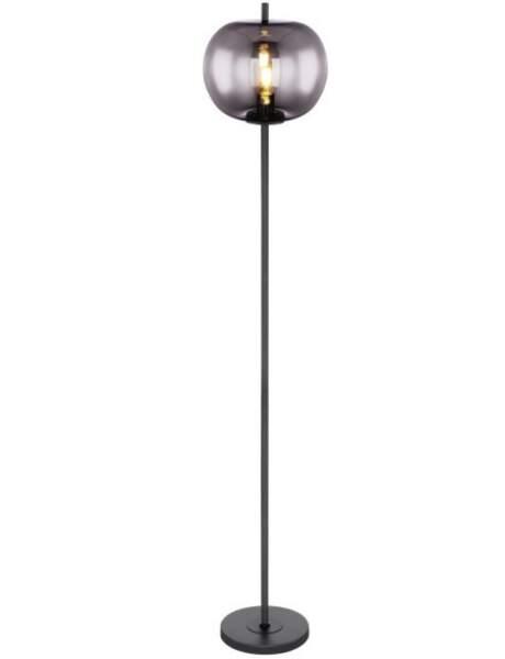 Lampadaire en métal et verre