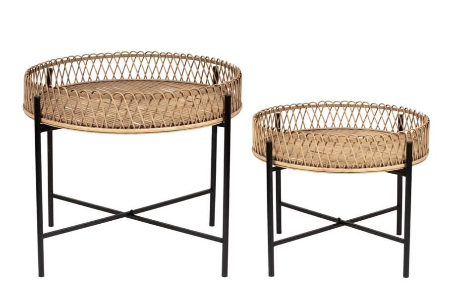 Tables basses en bambou