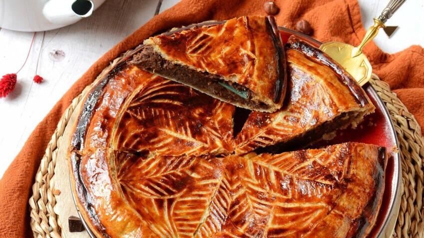 Galette des Rois lentilles vertes, chocolat & noisettes