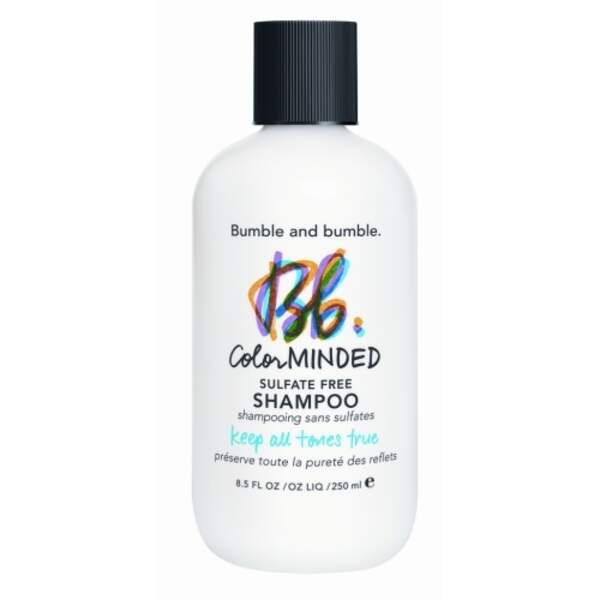 Color Minded - Shampoo Sans Sulfate, Bumble and Bumble, flacon 250 ml, prix indicatif : 32 €