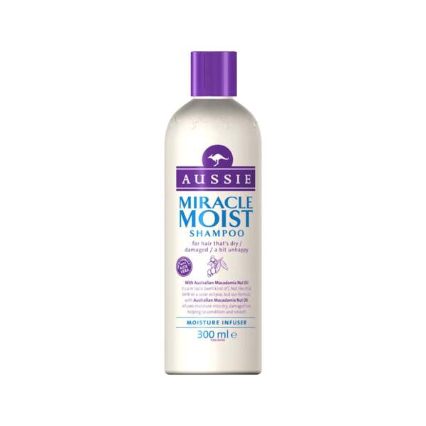 Shampooing Miracle Moist, Aussie, 7 €