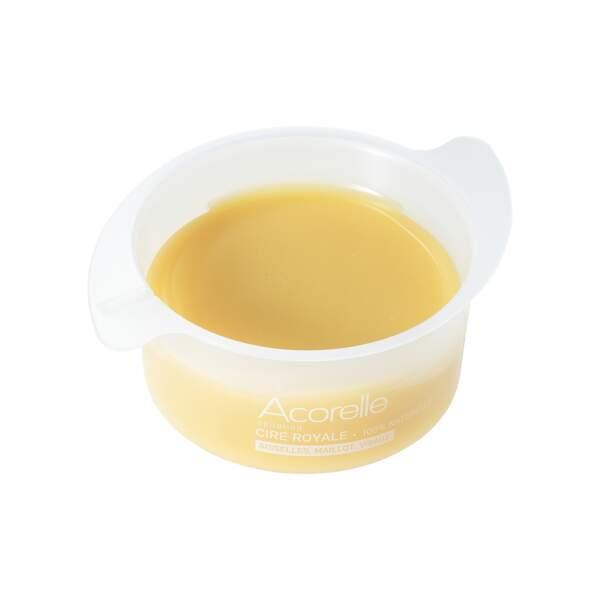 Cire Royale, Acorelle, pot 100 g, prix indicatif : 8,30 €