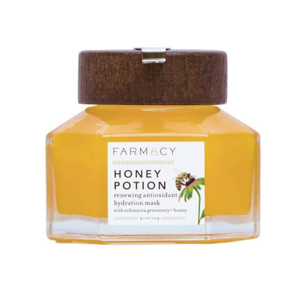 Honey Potion Masque Hydratant Antioxydant, Farmacy, pot 117g, prix indicatif : 34,90 €