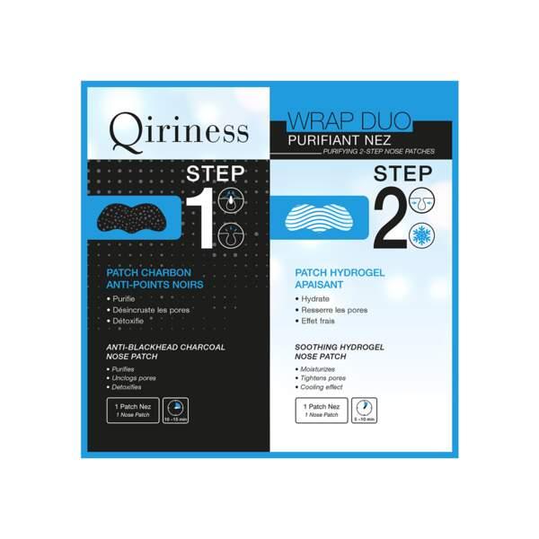 Wrap Duo Purifiant Nez, Qiriness, unidose, prix indicatif : 3,90 €