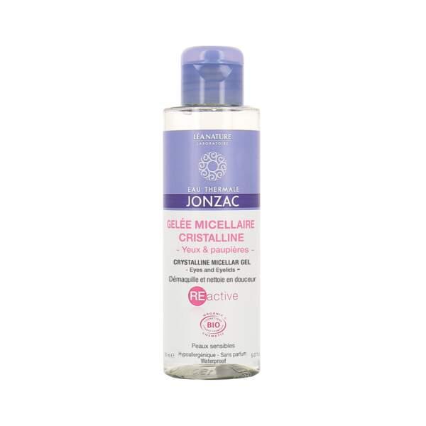 REactive - Gelée Micellaire Cristalline, Eau Thermale de Jonzac, flacon 150 ml, prix indicatif : 12,90 €