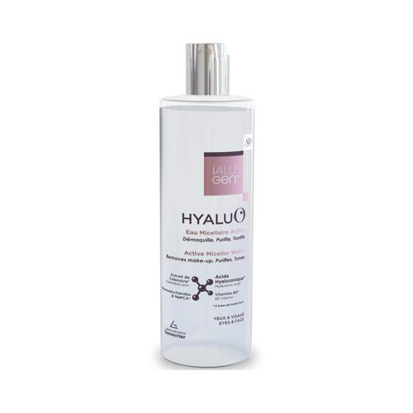 Hyalu'O Eau Micellaire Active, ialugen Advance, flacon 100 ml, prix indicatif : 11,20 €