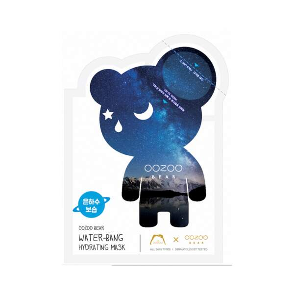Oozoo Bear Water Bang Masque Hydratant Visage, The Oozoo, sachet unidose, prix indicatif : 5,90 €