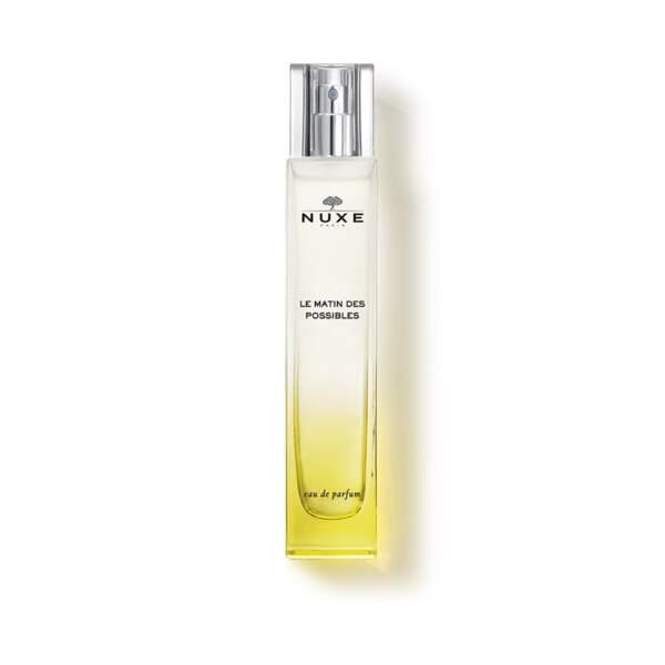 Eau de Parfum Le Matin des Possibles, Nuxe, vaporisateur 50 ml, prix indicatif : 55 €