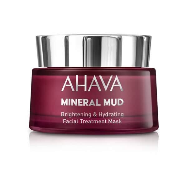 Mineral Mud - Masque de Soin Visage Éclaircissant et Hydratant, Ahava. Pot 50 ml, prix indicatif : 29,50 €