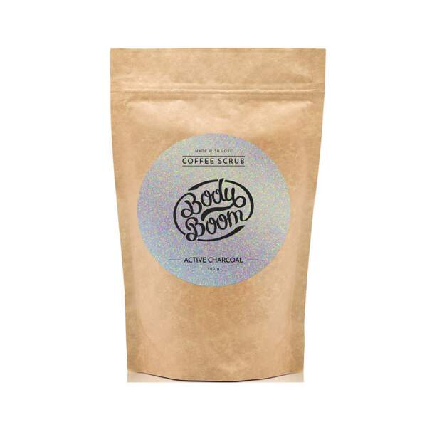 Coffee Scrub - Active Charcoal, Body Boom, sachet 100 g, prix indicatif : 10,99 €