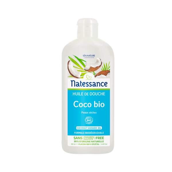 Coco Bio - Huile de Douche, Natessance, prix indicatif : 9,90 €