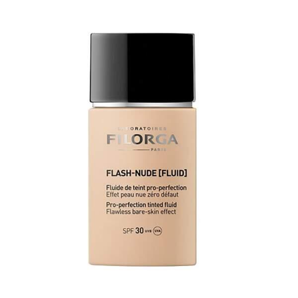 Flash-Nude Fluid - Fluide de Teint Pro-Perfection, Filorga, flacon 30 ml, prix indicatif : 36,90 €