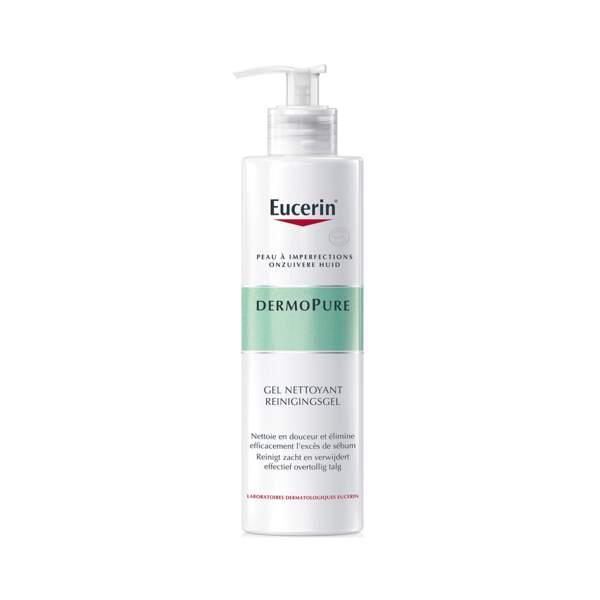 DermoPure - Gel Nettoyant, Eucerin, flacon 400 ml, prix indicatif : 13,40 €