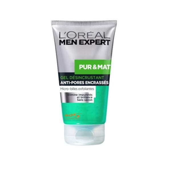 Pur & Mat -Gel Désincrustant Anti-Pores Encrassés, L'Oréal Paris, tube 150 ml, prix indicatif : 6,80 €