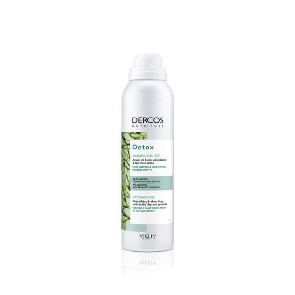 Dercos Nutrients Detox - Shampooing Sec, Vichy, prix indicatif : 11,40 €