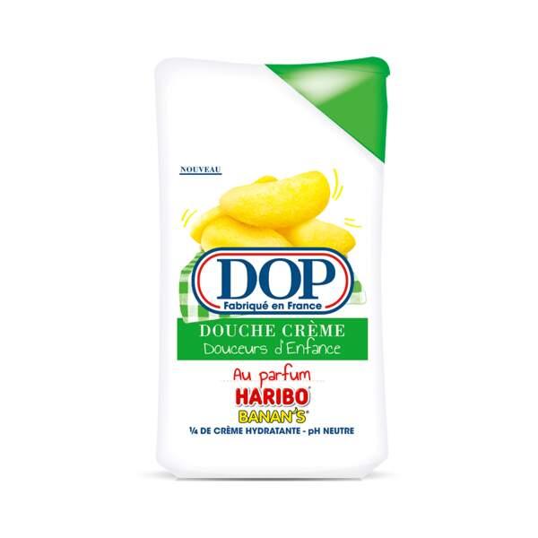Douche Crème Douceurs d'Enfance Haribo Banan's, Dop, flacon 250 ml, prix indicatif : 2,35 €