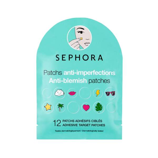 Patch Anti-imperfections, Sephora, 12 patchs, prix indicatif : 2,99 €