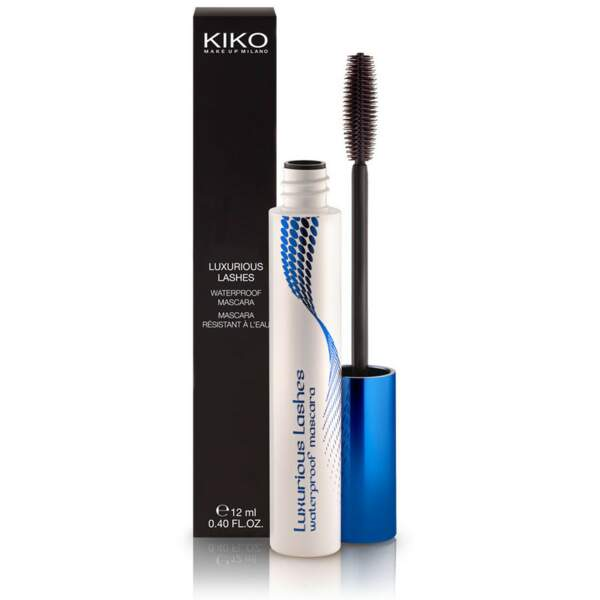 Luxurious Lashes Waterproof Mascara, Kiko, flaconnette 12 ml, prix indicatif : 7,20 €