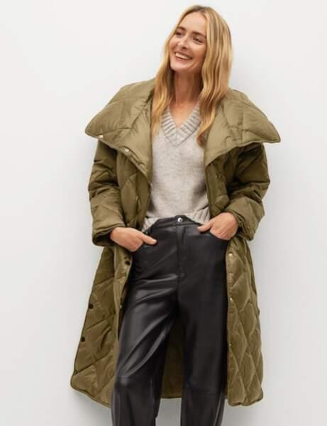 Trendy şişme ceket: büyük beden