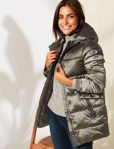 Trendy şişme ceket: parlak