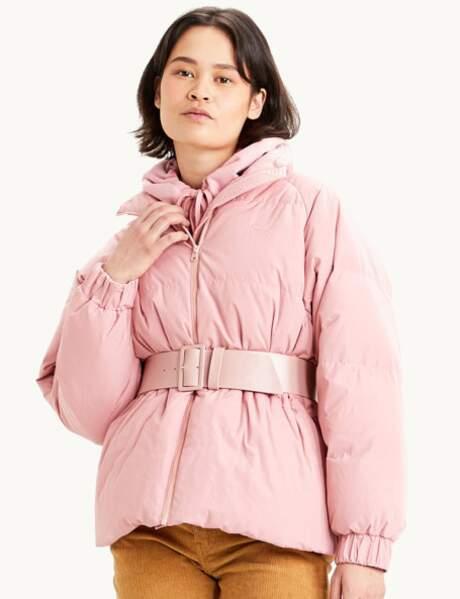 Trendy şişme ceket: pembe