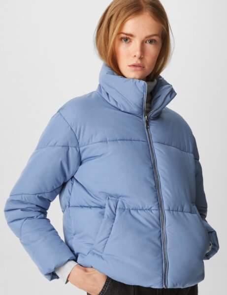 Trendy şişme ceket: gökyüzü