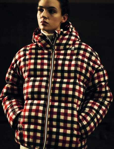 Trendy şişme ceket: çekler