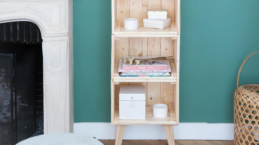 Comment réaliser une étagère tendance avec de simples caisses de bois ?