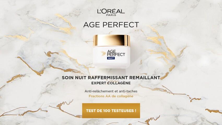 Testez le Soin Nuit Raffermissant Remaillant de l'Oréal Age Perfect Expert Collagène