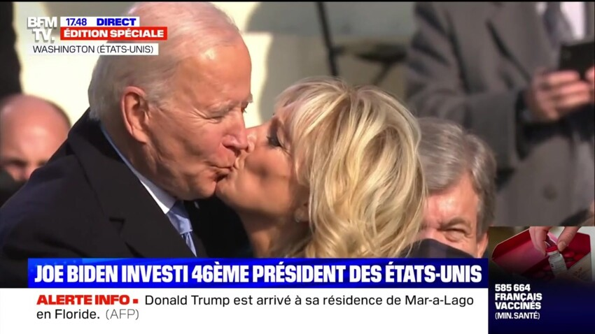 Joe Biden : son adorable message à sa femme Jill, quelques minutes avant l'investiture