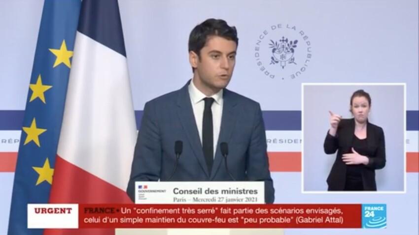 """Un 3e confinement """"très serré"""" n'est pas exclu, annonce Gabriel Attal, porte-parole du gouvernement"""