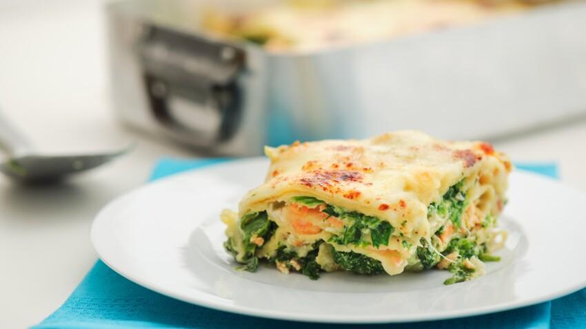 Les lasagnes au saumon et aux épinards de Cyril Lignac