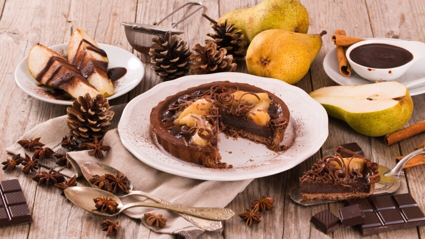 La recette de la tarte poire chocolat de Cyril Lignac