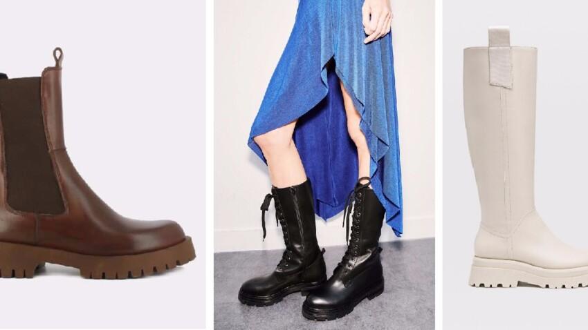 Chunky boots, bottes et bottines à grosse semelle tendance : le top des nouveautés