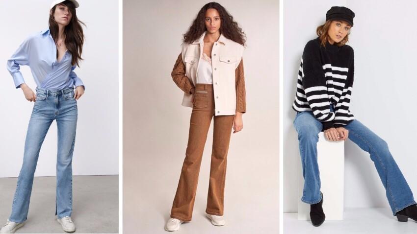 Jean flare et évasé : 15 modèles tendance qui affinent la silhouette