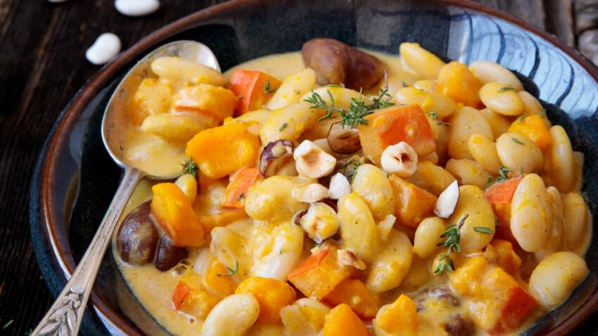 Mijoté d'automne aux haricots blancs et butternut