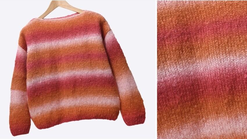 Comment tricoter facilement un pull rayé au point jersey