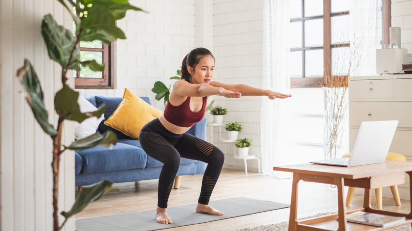 Programme de musculation à réaliser à la maison, sans équipement