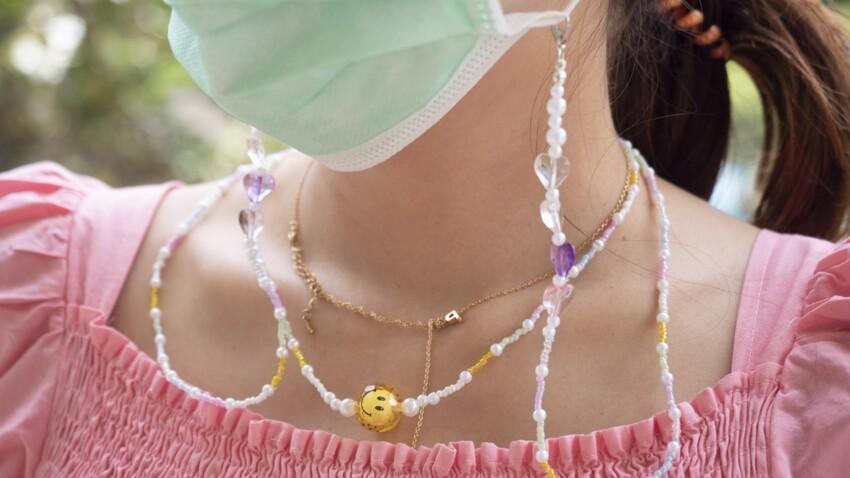 DIY : fabriquer une chaîne porte-masque en perles