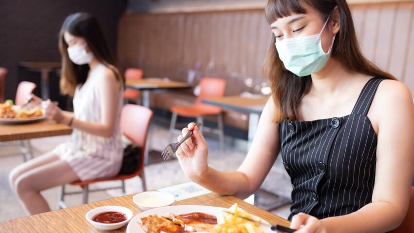 Masque nasal : quelle est cette protection conçue pour être portée pendant les repas ?