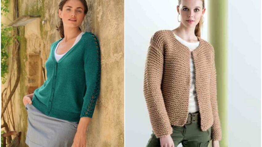 Tricot : 25 modèles de gilets pour femme faciles à faire